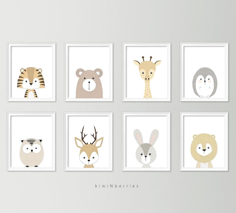 Neutral nursery decor  Cute nursery wall art  Nursery art image 1