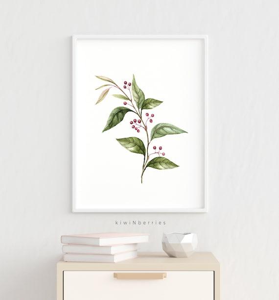 Printable wall art Botanical illustration Leaves watercolor Printable botanical set,Greenery art Botanical wall art Botanical print set