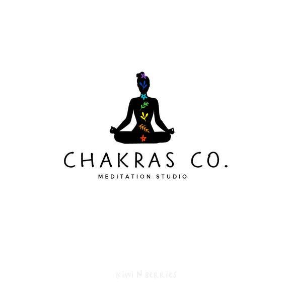 chakra logo yoga meditation logo pre made logo logo etsy chakra logo yoga meditation logo pre made logo logo design yoga pose abstract logo premade logo for small business