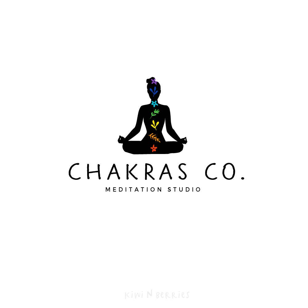 chakra logo yoga meditation logo pre made logo logo etsy