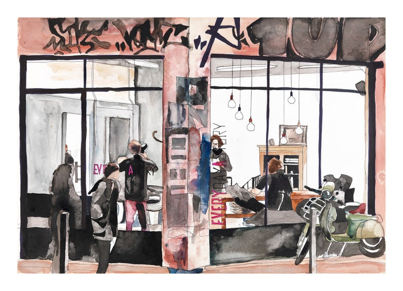 Barbershop Art Print Modern Wall Art Print Limited Edition image 0