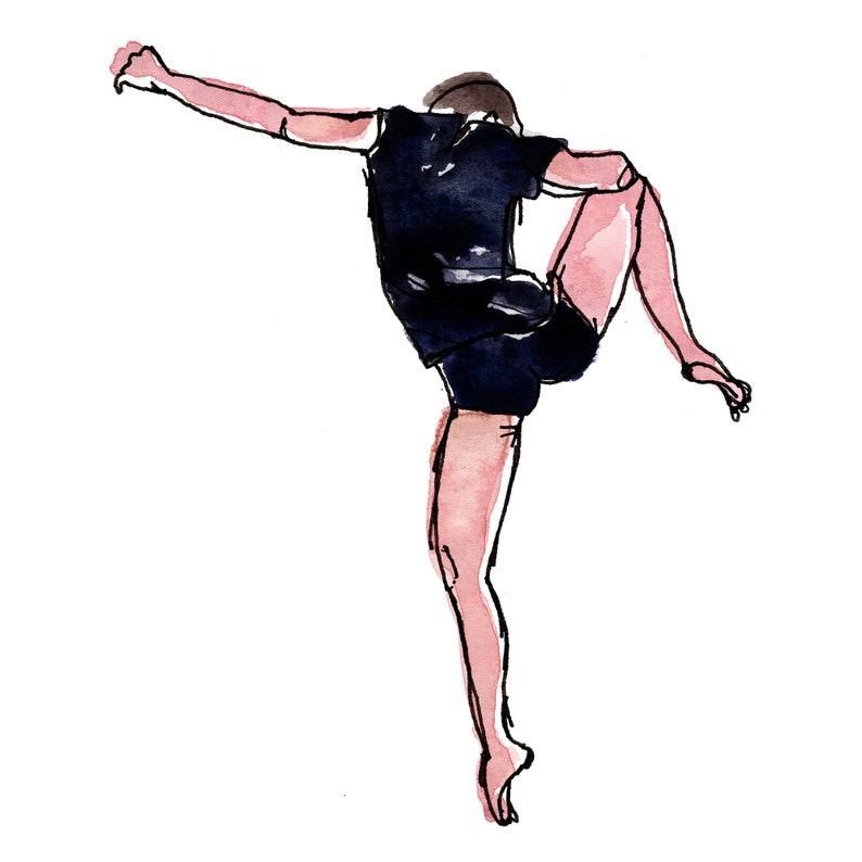 Contemporary Dancer Print Modern Dance Art PrintWall image 0