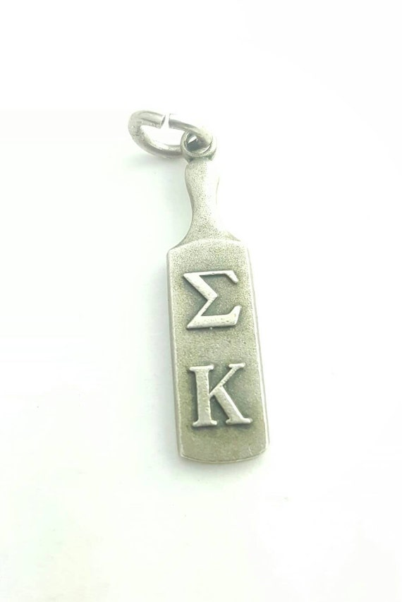 Vintage Sterling Silver 1962 Sigma Kappa Sorority Greek Traditional Paddle Charm