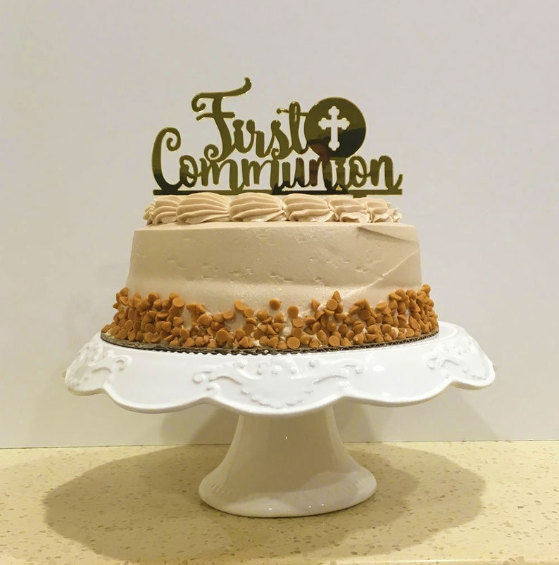 Catholic Cake Toppers Selection Baptism Christening Decorations A Child Of God God Bless First Communion