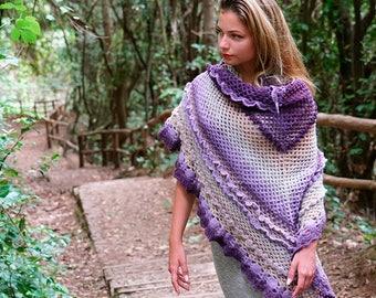 SAMPLE Fishnet Felted Crochet Shawl
