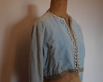 Genuine Vintage baby blue balero jacket