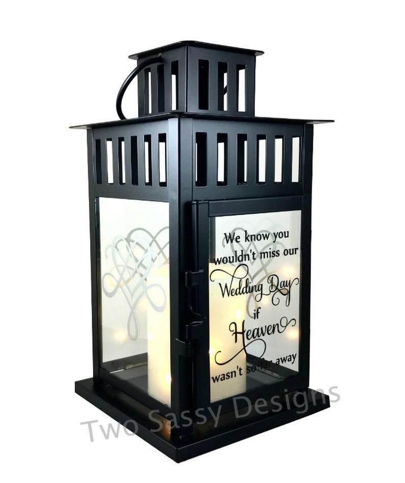 Memory Lantern Wedding Lantern Memory Table Wedding Candle image 0