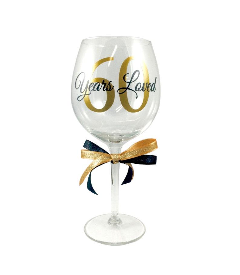 3cd09ac6236 60th Birthday Wine Glass 60 Years Wine Glass 60th | Etsy