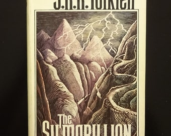 1977 The Silmarillion by J.R.R. TOLKIEN, 1st Edition First Printing, Folding Map, Dust Jacket