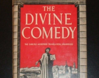1950 THE DIVINE COMEDY by Dante Alighieri, Illustrated Modern Library Edition, Un-clipped Dust Jacket, Very Good