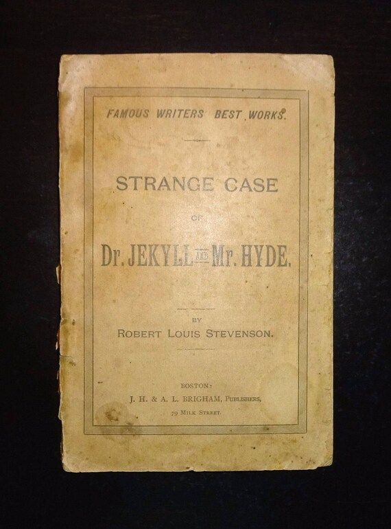 C 1890s The Strange Case Of Dr Jekyll And Mr Hyde By Etsy