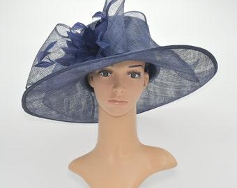 e4495f9c SF80 ( Navy Blue ) Kentucky Derby, Church, Wedding, Tea Party 3 Layers  5.5~6.25