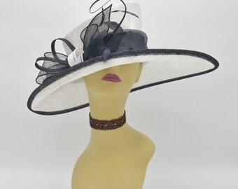 M34 ( White Black )Kentucky Derby Hat 84818db85