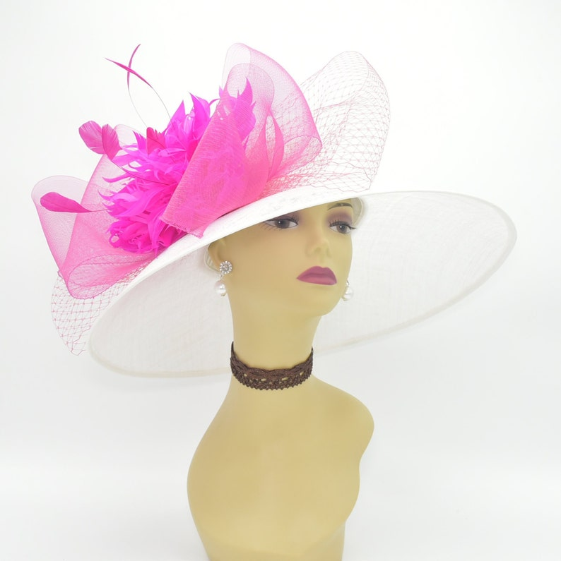 094492c2153ac SD08WhiteMore colorsKentucky Derby Hat Church Hat Wedding