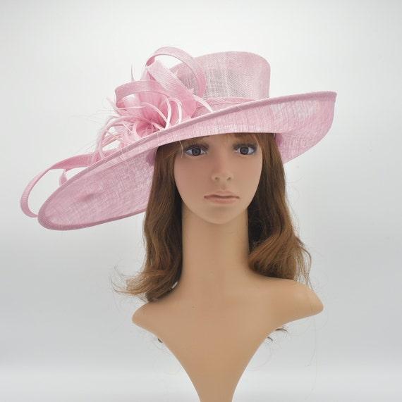 c9e222f35ebe9 M1515 Pink High Quality Kentucky Derby Hat Church