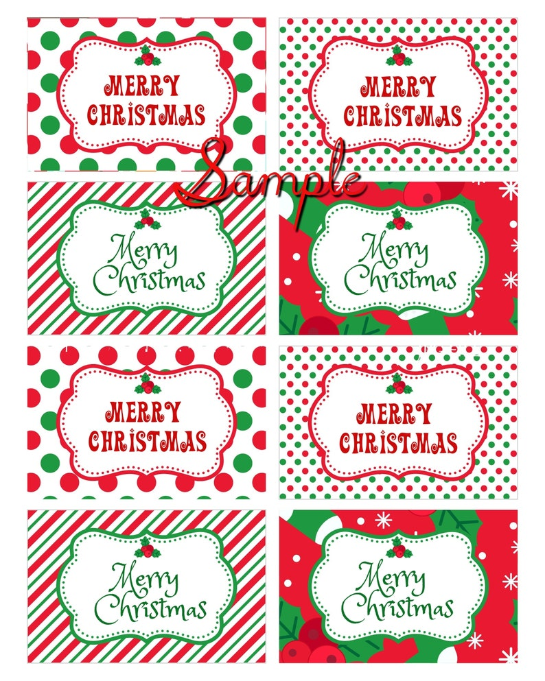 Merry Christmas Labels.Merry Christmas Labels And Tags Perfect For Gifts Parties And Christmas Decor Download As It Or Edit With Corjl