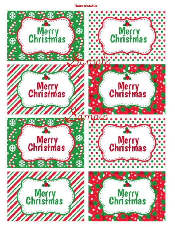 Editable Christmas Labels.Merry Christmas Red White Green Cute Christmas Gift Tags Perfect For Kids Party Gifts Teacher Gifts Christmas Labels Downloadable