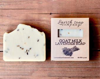 Goat Milk Lavender Soap - Soothing, itchy skin, dry skin, all natural, moisturizing, gently cleansing