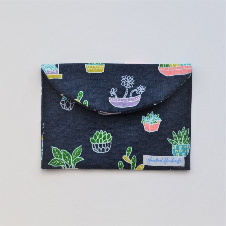 gift for her gift for earrings lovers Navy planters earrings storage travel pouch protection case for earrings when travelling