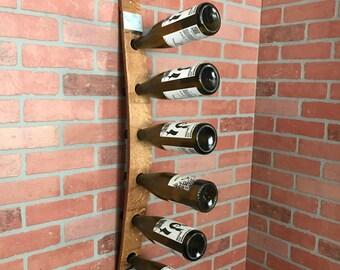 Wine Barrel Stave Wine Rack