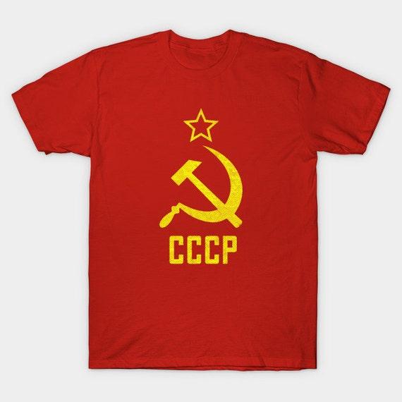 CCCP URSS hammer /& faucille Russie Homme T shirt Communisme Union Soviétique