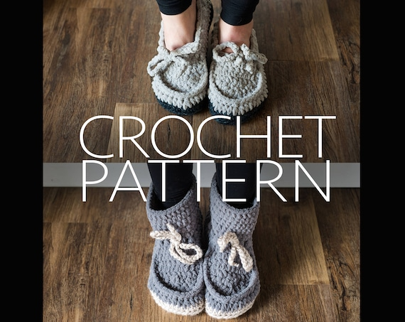 wknd slipper CROCHET PATTERN