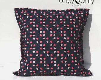 Sewing Kit - Envelope Cushion Cover - Navy/Pink
