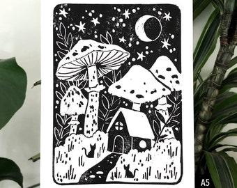 Fairytale Forest - Lino Art Print