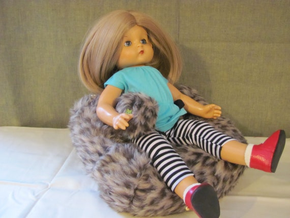 Awesome American Girl Doll Bean Bag Chair Doll Bean Bag Faux Leopard Fur Bean Bag Gmtry Best Dining Table And Chair Ideas Images Gmtryco