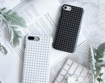 iPhone 6 Case iPhone 6s Case iPhone Case 6 iPhone Case 6s - Design Minimaliste - Black and White - Soft Case - Ultra Slim - Matte - Nyucase
