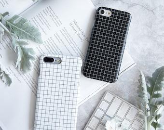 iPhone 6 Case iPhone 6s Case iPhone Case 6 iPhone Case 6s - Design Minimalist - Black and White - Collection NyuCase - Ultra Slim Soft Case