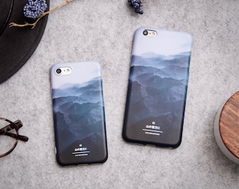 iPhone 7 Case iPhone Case 7 iPhone 8 Case iPhone Case 8 - The Mountain - Feel Wild and Free - New Collection NyuCase - Ultra Slim - Matte