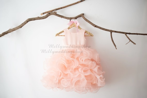 Ruffle Flower Girl Dress M0074