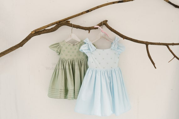 Pearl Beaded Cotton Party Flower Girl Junior Bridesmaid Dress  M0098 & M0099