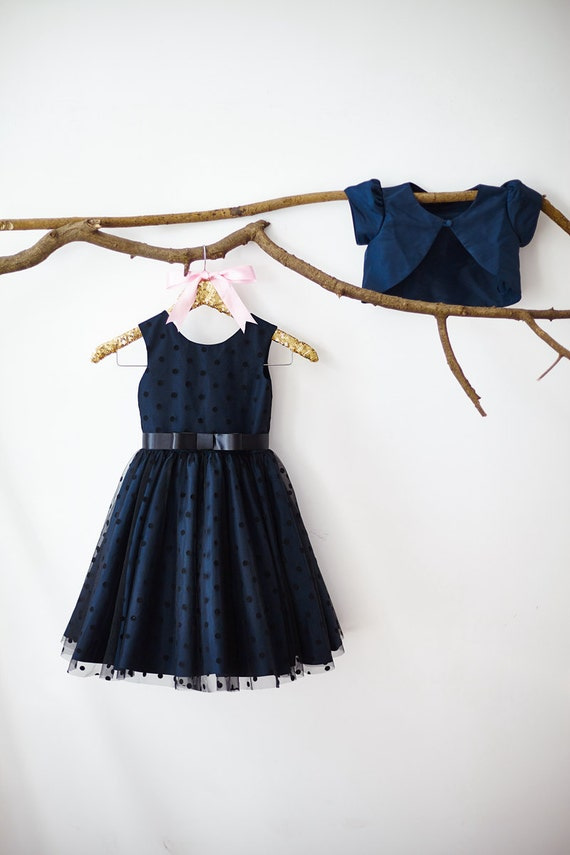 Navy Blue  Flower Girl  M003