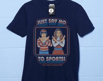 f5be921d6 Just Say No To Sports - Retro 70s / 80s T shirt - Steven Rhodes.