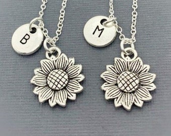 Set of 2) By Gifts For Friendship -   Friends Necklaces, Best Friend Necklaces For 2,  Set of (2)  Jewelry,Sunflower Friendship Necklaces
