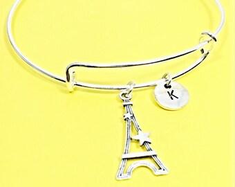 Eiffel tower charm bracelet, Eiffel Tower, eiffel bangle bracelet, french jewelry, France,personalized, customized, eiffel tower,France,Gift