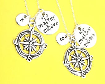 2 Best Friends set, Customized,Best friend Necklace,Pink Necklace,Pink Jewelry, Twin Necklaces, Bff Friendship Jewelry, Gift For Friend