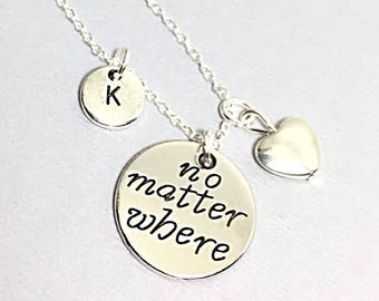 Romantic Jewelry, Love Necklace, Anniversary Gift, Girlfriend Gift Necklace, Custom Jewelry Gifts, Personalize Necklace, Initial Necklace