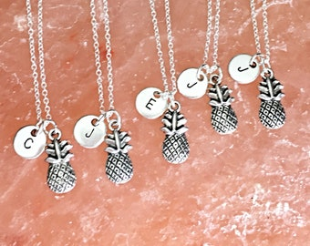 SET OF 5 Friendship Necklaces - Set of 5 BFF Jewelry,Set of 5 necklace, Pineapple Necklaces,friends,5 best friends, gift
