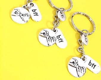 SET OF 3 BFF Keychain Gift Best Friends Set of 3 No Matter Where Keychain 3 Best Friends 3 Keychain Customized Gifts Monogram Keychain Gift