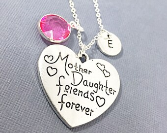 Silver Engraved Mother's Necklace.Mother's Keepsake Necklace.Silver Circle Pendant.Engraved Family Tree.Mom Quote Necklace.Gift for Mom.