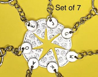 Sale!  SET OF 7,Best friends keychain - set of seven, bff charm, 7 bff keychain,set of 7 best friend,customized keychain,monogram,initial