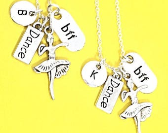 SET OF 2 Personalized BFF Necklaces, Two Best Friend Jewelry, Custom Friendship  Necklaces, Monogram,Jewelry Gift For Best Friend Birthday