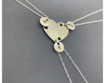 430608f5c Stainless Steel Set of (3) Friends, Friendship friend, 3 best friend  necklace, friend charm, friendship distance gifts, Three Friends Gifts