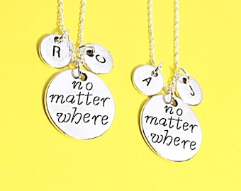 Best friend necklace, bff necklace - set of 2 bff, Personalized necklace, Distance Jewelry, Best Friend necklace, friendship jewelry, gift