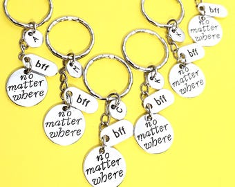 Custom, 6 Best Friends, 6 bff keychains, bff keychain, set of 6 friend keychains, promise keychain, 6 best friends,friends forever, gift BFF