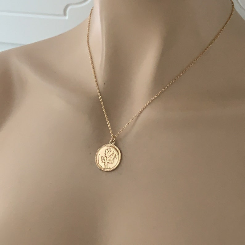 Rose jewelry Gold Rose Flower Necklace Gold Rose Necklace Rose Charm Necklaces Rose Necklace Gold Rose Flower Necklace Flower Girl