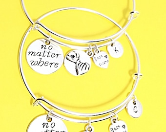 Friends forever charm bracelet, best friend bangle, infinity bangle, friendship bracelet, silver friend jewelry, gift for best friend, bff